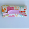 Nappy Diaper Change Mat Pink Animals with Pink Minky