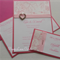 Wedding Invitation - Place Card - RSVP Card - Pink