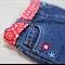 toddler belt - summer poppies / red flowers / girl 1-3 years