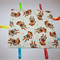 TAGGIE BLANKET WITH TEETHER - MONKEY