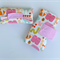 Nappy Diaper Change Mat with Nappy Wallet Pink Animals with Pink Spots