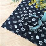 TABLE LINEN SET : Tablecloth + 4 Napkins | Many Moons Print