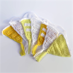 crochet bunting | flag garland | baby shower | nursery | white, yellow, lemon