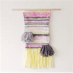 Original Wall Weaving- handwoven:- Pastel