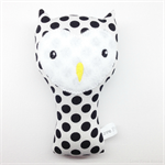 Owl Rattle Black and White Spots