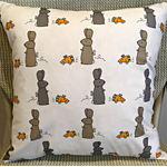"""Rabbits and Carrots Cushion Cover 14"""" 