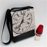 Messenger Mini 'Time for Change' script flap with Black Faux Leather vinyl
