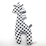 Giraffe Tag Toy Rattle Black and White Spots Monochrome