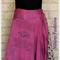 Diamond Cut Handkerchief wrap boho bohemian reversible recycle wrap silk skirt