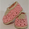 Crochet Peach Baby Sorrento slippers/ Baby shoes/Baby booties. Fits 6 - 12 month