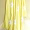 Extra Large Lemon Daisy Applique' Fleece Blanket