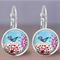 Spring Bird Glass Tile Earrings