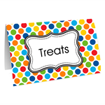 Candy bar buffet buffets table decoration decorations tag tags food labels