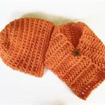 Beanie scarf girls' scarflette beanies neck warmer orange