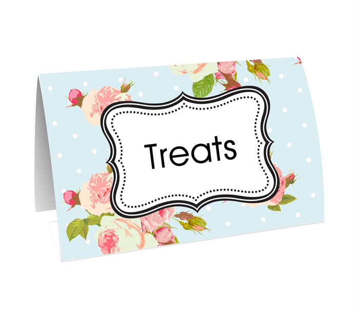 Shabby Candy buffet buffets table decoration decorations tag tags ...