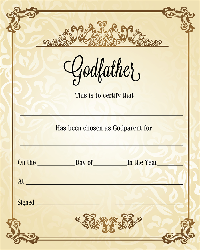 godparent certificate template - godparent certification letter 28 images this