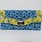 Clutch Purse/Wallet  #24  Blue/Yellow Floral