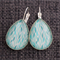 Turquoise and Jade~ Teardrop Earrings