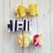 Mini Clip Trio - Mustard & Magenta Floral - Navy & White Stripe - Glitzy Gold