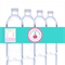Personalised kids birthday party parties DIY water bottle label labels stickers