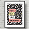 A4 Art Print -Don't Quit Your Daydream - Inspirational quote with polka dots
