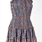 Recycled Silk Boho Bohemian Halter Neck Dress Mini Evening Party Silk Dress