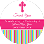 DIY Personalised Christening baptism naming day stickers favours favour gifts