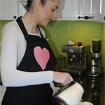 """Heart of musk"", is a deluxe, handmade, one-of-a-kind, lady's apron."