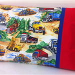 Truck Pillowcase ~ Red