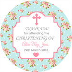 DIY shabby favours Christening christenings baptism naming day days label