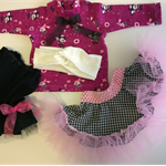 Tee-shirt, Skirt & Petty-skirt and Head Wrap