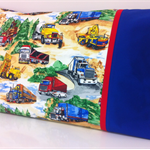 Truck Pillowcase ~ Blue