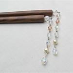 Crystal Cascade Hair Sticks Swarovski Crystal Pearls Czech Glass Beads Sparkly