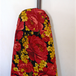Ironing Board Cover - large red pretty flowers