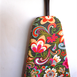 Ironing Board Cover - large pretty flowers pink, orange, lemon on grey