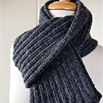 Women's and Men's knit winter scarf