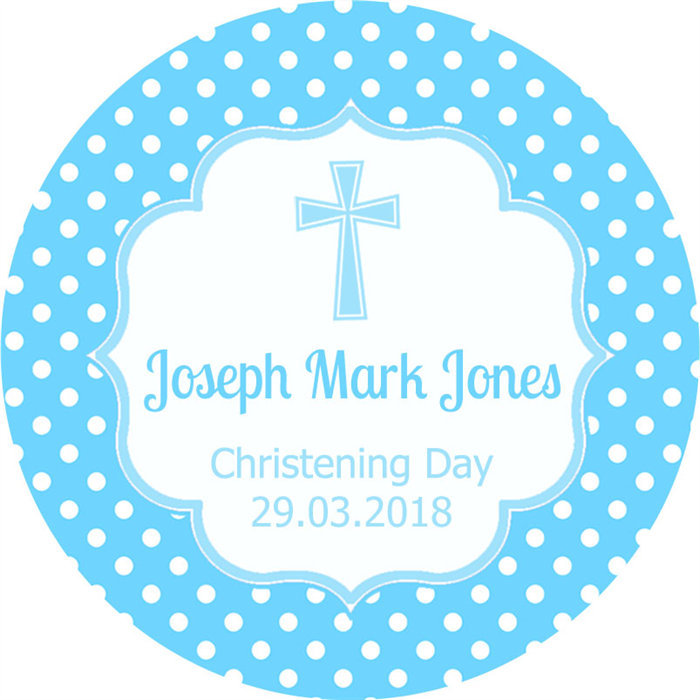 Diy personalised christening baptism favours favour decorations labels
