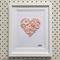 Hand-stitched artwork - Pale Pink Love Heart Button Art