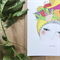 Fruity Tooty A4 print of a fashion illustration on archival paper
