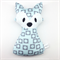 Blue and Grey Fox Rattle Toy