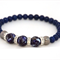 Lapis Lazuli and Mother of Pearl Bracelet