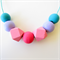 Turquoise , Pink & Purple Geometric Adjustable Necklace