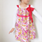 Girls Dress Girls Clothing Flower dress w Chiffon Ribbon Sz 3 4 5 6