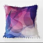 Blossom V Pom Pom Screen Printed Cushion Cover