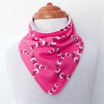 Bandanna Bib - Pink Floral -  Dribble Bib