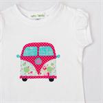 Girls Camper Top/Onesie - Pastel Paisley - Volkswagen - Kombie Van