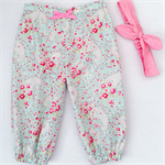 Harem Pants - Pastel Paisley - Aqua - Retro - Girls