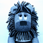 'Lenny' the Sock Lion - *ready to post*