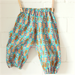 baby boy harems | bright feather print | play pants