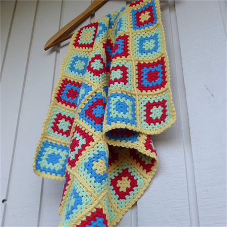 baby blanket | crochet afghan | red, blue, lime green, yellow | baby shower gift